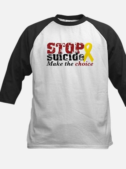 STOP suicide make choice Kids Baseball Jersey