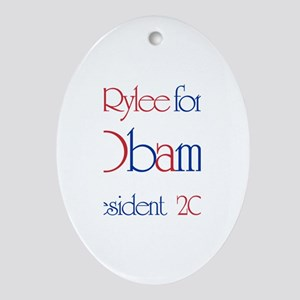 Rylee for Obama 2008 Oval Ornament