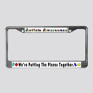 putting the pieces together License Plate Frame