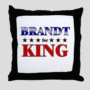 BRANDT for king Throw Pillow