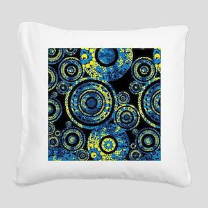 Aboriginal Paisley Circles Square Canvas Pillow