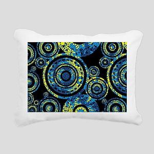 Aboriginal Paisley Circl Rectangular Canvas Pillow
