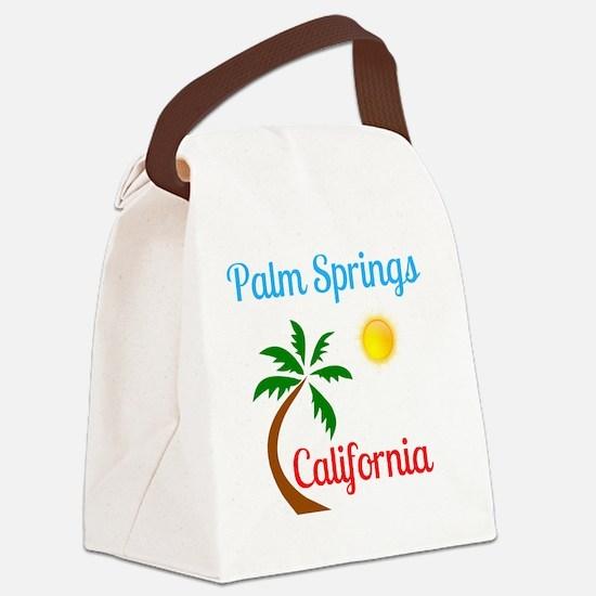 Unique Palm springs Canvas Lunch Bag