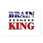 BRAIN for king Postcards (Package of 8)