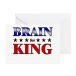 BRAIN for king Greeting Cards (Pk of 10)