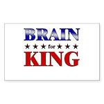 BRAIN for king Rectangle Sticker