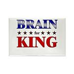 BRAIN for king Rectangle Magnet