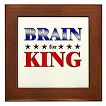 BRAIN for king Framed Tile