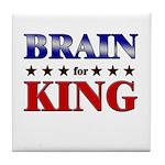BRAIN for king Tile Coaster