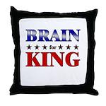 BRAIN for king Throw Pillow