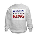 BRAIN for king Kids Sweatshirt