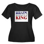 BRAIN for king Women's Plus Size Scoop Neck Dark T