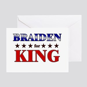 BRAIDEN for king Greeting Card