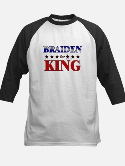 BRAIDEN for king Kids Baseball Jersey
