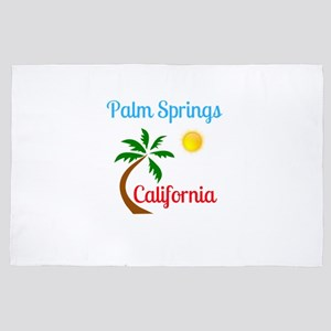 Palm Springs California Palm Tree and 4' x 6' Rug