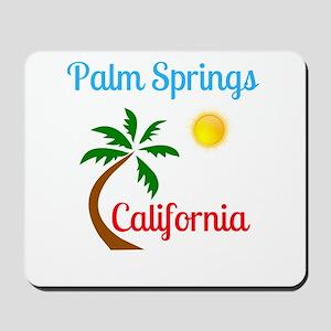 Palm Springs California Palm Tree and Su Mousepad