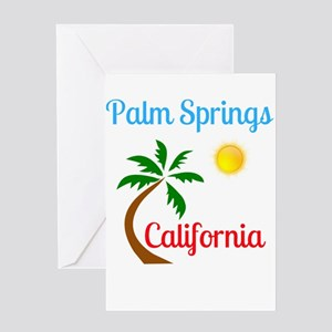 Palm Springs California Palm Tree a Greeting Cards