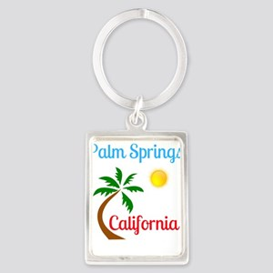 Palm Springs California Palm Tree and Su Keychains