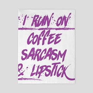 coffee sarcasm & lipstick Twin Duvet Cover