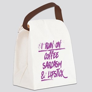 coffee sarcasm & lipstick Canvas Lunch Bag