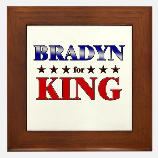 BRADYN for king Framed Tile