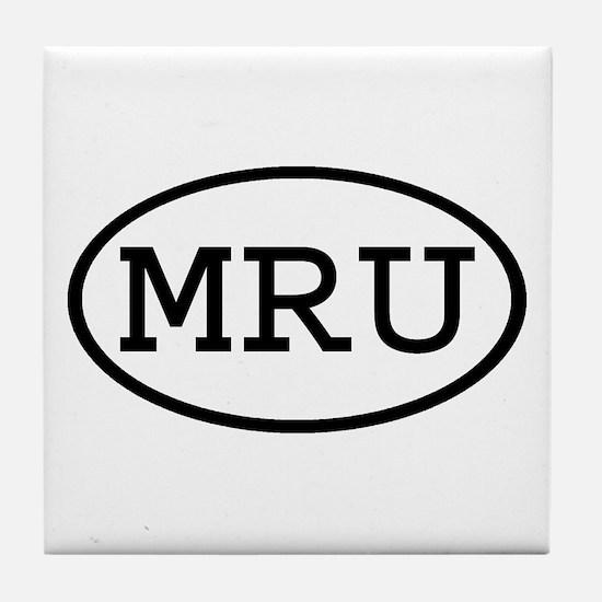 MRU Oval Tile Coaster