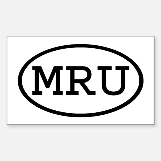 MRU Oval Rectangle Decal