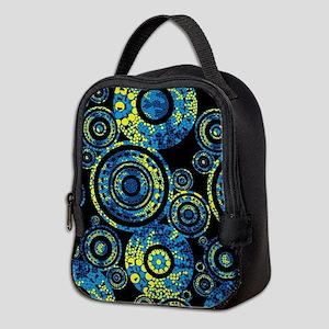 Aboriginal Paisley Circles Neoprene Lunch Bag