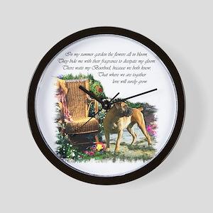 Boerboel Art Gifts Wall Clock