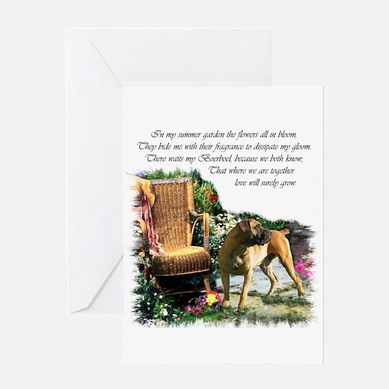 Boerboel Art Gifts Greeting Card