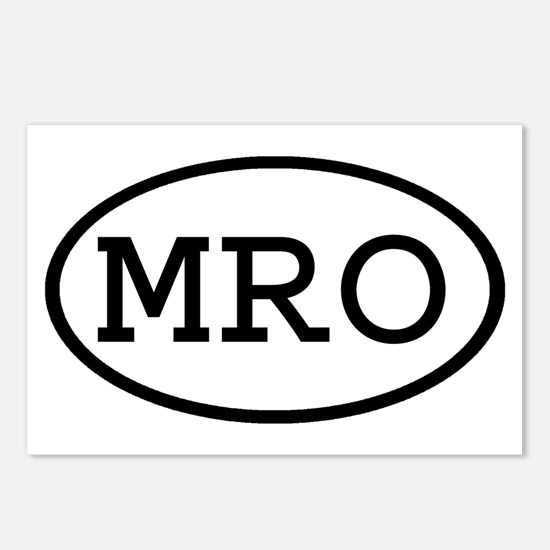 MRO Oval Postcards (Package of 8)