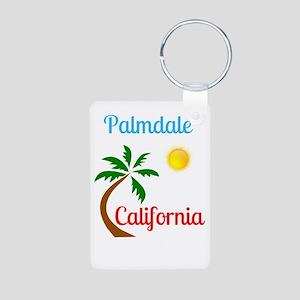 Palmdale California Palm Tree and Sun Keychains
