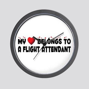 Belongs To A Flight Attendant Wall Clock