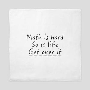 Math Is Hard Queen Duvet