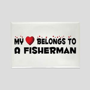 Belongs To A Fisherman Rectangle Magnet