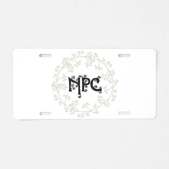 npc Aluminum License Plate