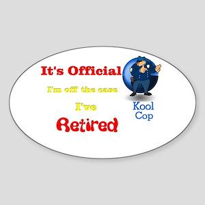 Kool Cop. Oval Sticker