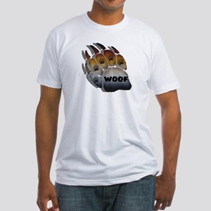 SHADOWED WOOF BEAR PRIDE PAW Fitted T-Shirt