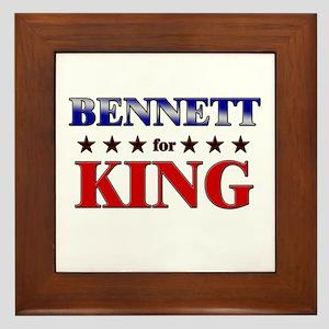 BENNETT for king Framed Tile