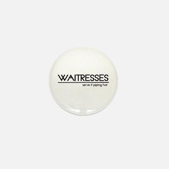 Waitress Joke Mini Button