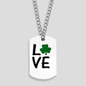 Love St Patrick's Shamrock Dog Tags