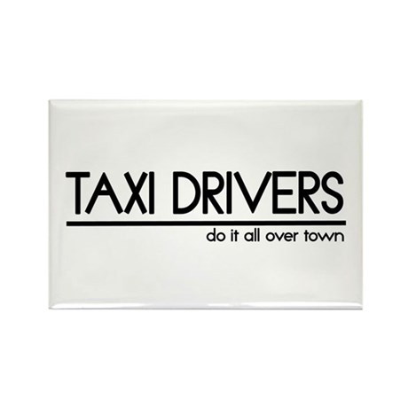 Taxi Driver Joke Rectangle Magnet (10 pack)