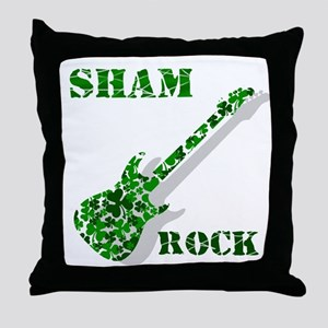 Sham Rock Throw Pillow
