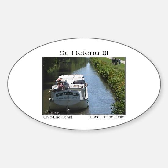 St. Helena III Oval Decal