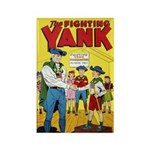 Classic Fighting Yank Final Issue Rectangle Magnet