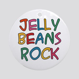 Jelly Beans Rock Ornament (Round)