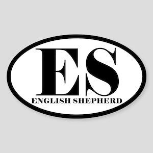ES Abbreviation English Shepherd Oval Sticker