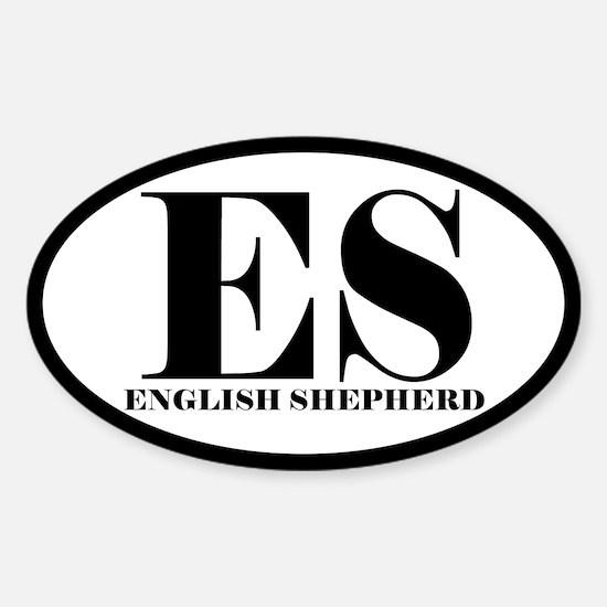 ES Abbreviation English Shepherd Oval Decal