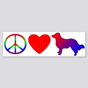 Peace, Love, English Shepherd Bumper Sticker
