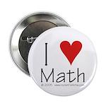 """I Love Math! 2.25"""" Button (100 pack)"""
